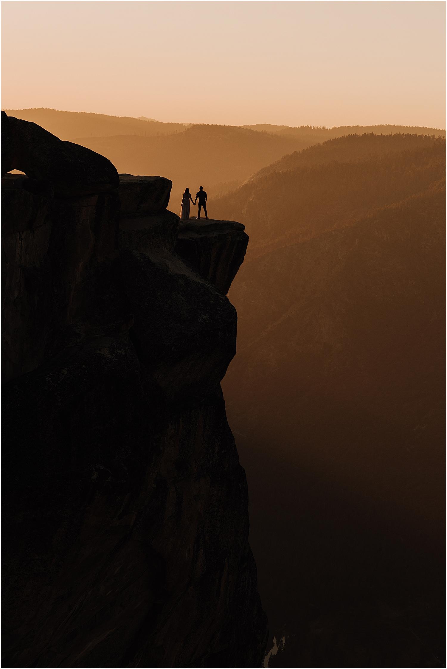adventurous yosemite national park elopement at taft point with California wedding photographer Naomi Levit