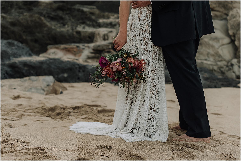 intimate maui wedding at ironwoods beach in kapalua hawaii