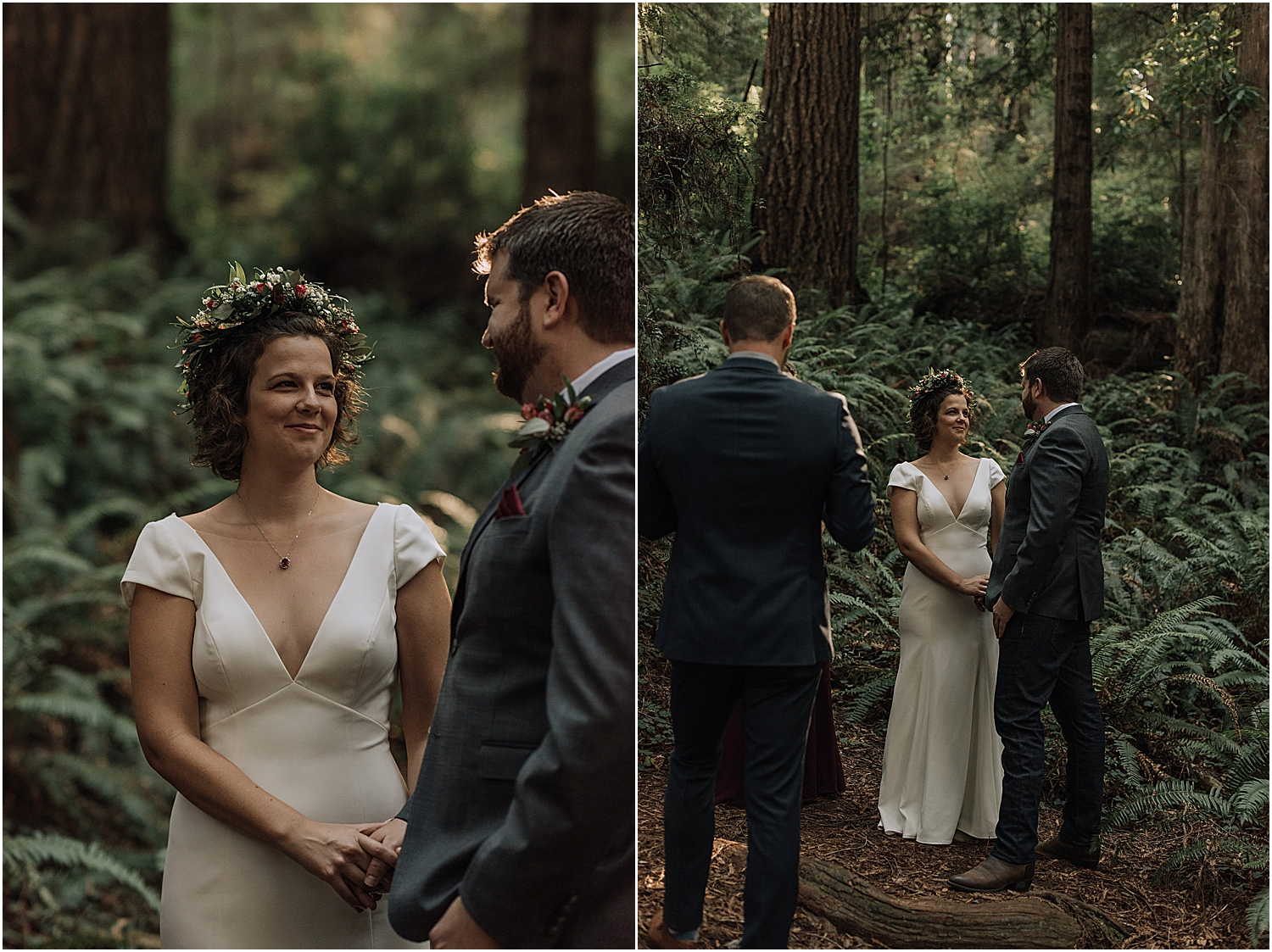 molly and brian's full day elopement in redwoods national park