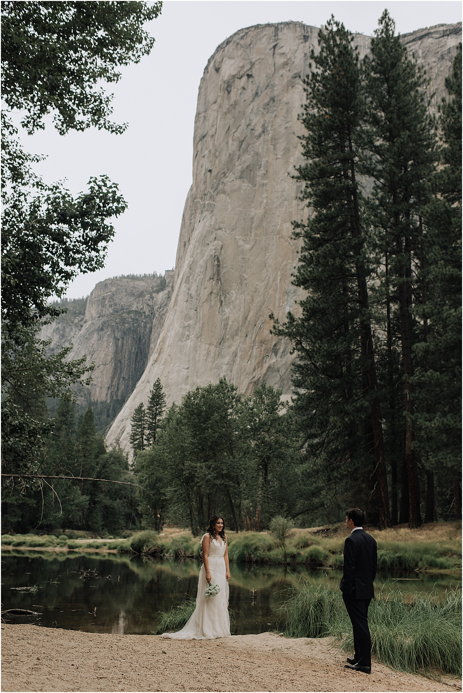 jenna and alex's adventurous yosemite elopement along the merced river and taft point