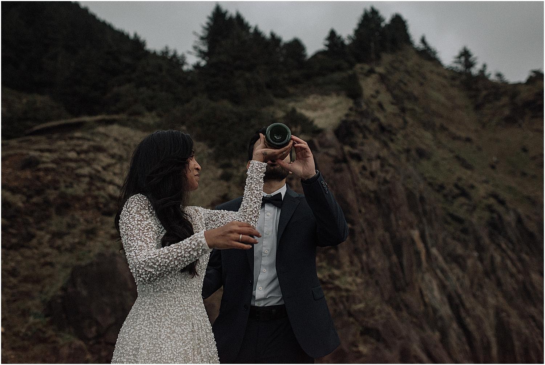 epic cliffside oregon coast elopement inspired engagement session